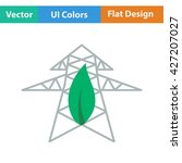 electric tower with leaf icon....