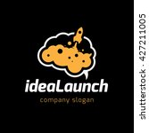idea launch logo. rocket logo.... | Shutterstock .eps vector #427211005