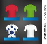 cycling jerseys vector set for... | Shutterstock .eps vector #427214041