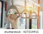 Handle On Ceiling Of Bus Handl...