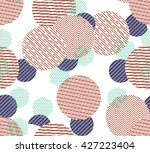 seamless circle pattern with... | Shutterstock .eps vector #427223404