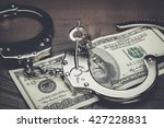 handcuffs and one hundred... | Shutterstock . vector #427228831
