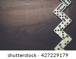 domino pieces forming zigzag on ... | Shutterstock . vector #427229179