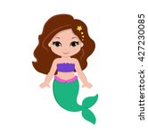 Cute Little Mermaid.vector...