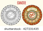 zodiac signs theme. black and... | Shutterstock .eps vector #427231435
