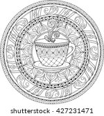 tea and coffee theme. circle... | Shutterstock .eps vector #427231471