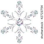 snowflake made from different... | Shutterstock . vector #42723754