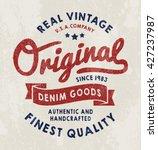 original vintage denim print...   Shutterstock .eps vector #427237987