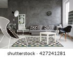 spacious classic living room in ... | Shutterstock . vector #427241281
