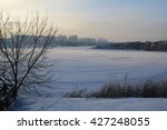 snow covered trees in the park. | Shutterstock . vector #427248055