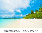 beautiful tropical beach and... | Shutterstock . vector #427249777