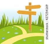 wooden pointer arrow at... | Shutterstock .eps vector #427254169