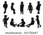 kids silhouettes | Shutterstock . vector #42725647
