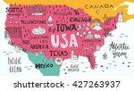 hand drawn illustration of usa... | Shutterstock .eps vector #427263937
