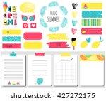 hello summer sticker  icons ... | Shutterstock .eps vector #427272175