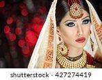 portrait of a beautiful female... | Shutterstock . vector #427274419