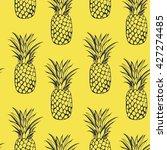 pineapples seamless. tropical... | Shutterstock . vector #427274485