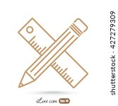 line icon  pencil and ruler | Shutterstock .eps vector #427279309