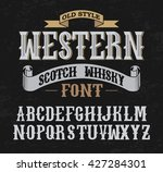 western label font and sample... | Shutterstock .eps vector #427284301