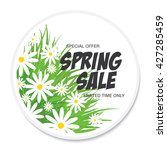 spring sale label | Shutterstock .eps vector #427285459