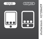 tablet line icon  outline and...