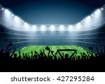 excited crowd of people at a... | Shutterstock .eps vector #427295284