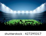excited crowd of people at a... | Shutterstock .eps vector #427295317