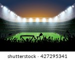excited crowd of people at a... | Shutterstock .eps vector #427295341