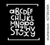 latin alphabet. vector set of... | Shutterstock .eps vector #427301404