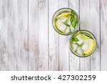 water with lemon  mint and