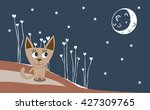 illustration of a cat on a... | Shutterstock .eps vector #427309765
