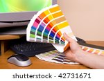 designer at work. color samples ... | Shutterstock . vector #42731671
