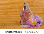 purple flower and glass perfume ... | Shutterstock . vector #42731677