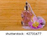 purple flower and glass perfume ... | Shutterstock . vector #42731677