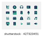 music icon set vector.line... | Shutterstock .eps vector #427323451
