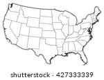 map   united states  rhode... | Shutterstock . vector #427333339