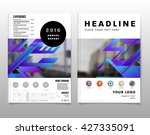 geometric vector business cards ... | Shutterstock .eps vector #427335091