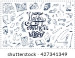 calligraphic inscription  ... | Shutterstock .eps vector #427341349