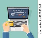 credit card  online payment | Shutterstock .eps vector #427345741