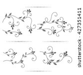 set of vintage ornament with... | Shutterstock .eps vector #427351411