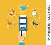 credit payment | Shutterstock .eps vector #427354687