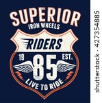 superior motorcycle typography  ... | Shutterstock .eps vector #427354885