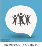 pictograph of success team | Shutterstock .eps vector #427358251
