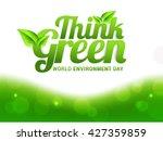 vector illustration eco poster... | Shutterstock .eps vector #427359859