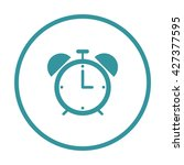 alarm clock icon ui vector eps...