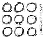 grunge circle marker for... | Shutterstock .eps vector #427377694