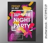summer night party vector flyer ... | Shutterstock .eps vector #427399219