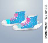 vector illustration blue... | Shutterstock .eps vector #427404811
