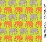 vector seamless pattern. orange ... | Shutterstock .eps vector #427405399