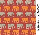 vector seamless pattern. orange ... | Shutterstock .eps vector #427405405